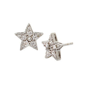 BLUE STARLET STAR STUD EARRINGS: Betsey Johnson