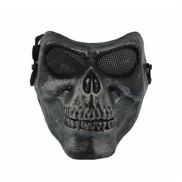 Corpse Skull Head Full Face Mask With Elastic Band  Cosplay  Adult