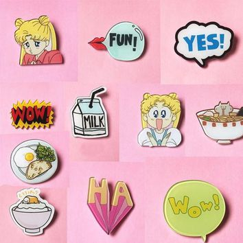 YUM! SAILOR MOON PINS