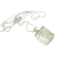 Mama Designs Sister Glass Tile Family Necklace | Overstock.com Shopping - The Best Deals on Necklaces