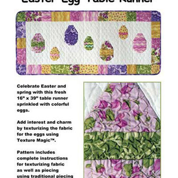 Easter Egg Table Runner Quilting Pattern by Annie Unrein