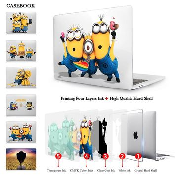 Minions Selfie Matte Case For New 2016 Macbook Pro 13 15 With Touch Bar A1706 A1707 Hard Crystal Case Cover For Mac Pro 13 A1708