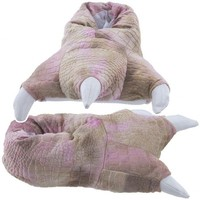 Wishpets Medium Pink Dinosaur Claw Slippers