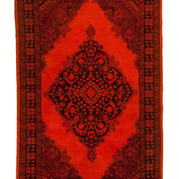 5x7 Overdyed Semi Antique Orange Rug Oriental 2659