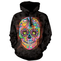 The Mountain DAY OF THE DEAD HOODIE Dean Russo Sugar Skull Sweatshirt S-2XL NEW