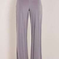 Jill Grey Slinky Palazzo Trousers - Trousers - PrettylittleThing | PrettyLittleThing.com