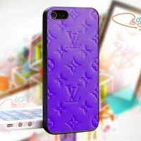 Louis Vuitton PURPLE - design for iPhone 4/4S Black case