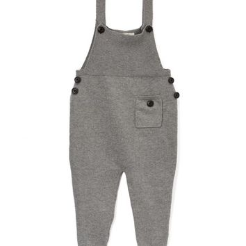 Gray Sweater Overalls - Infant, Toddler & Kids
