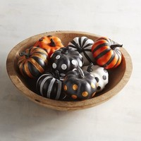 Glittered Mini Pumpkin Set
