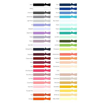 Custom Classic Knotted Hair Ties 20-Pack | Choose your own colors!
