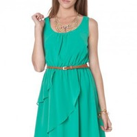 Kimmie Dress in Jade - ShopSosie.com