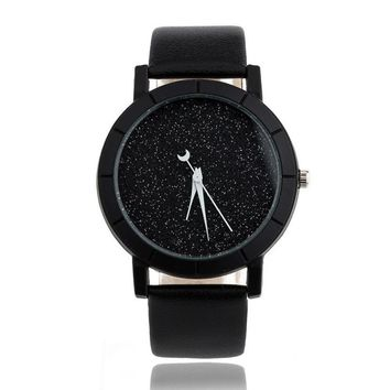 Xiniu Watch Women Star Minimalist Watches Elegant Rhinestone Female Quartz Thin Leather Strap Waterproof Montre Femme