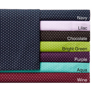 Expressions Grand Polka Dot Easy Care Sheet Set | Overstock.com Shopping - The Best Deals on Sheets