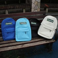 Stylish Lightweight Supreme Backpack Canvas Travel Bag