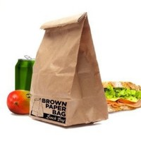 Brown Paper Bag- INSULATED Lunch Bag