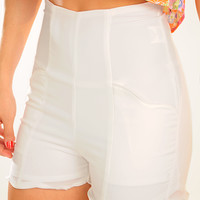 All I Want Is You Shorts: White