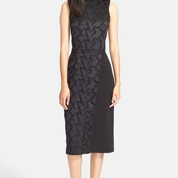 Women's A.L.C. 'Andrew' Sleeveless Lace Trim Midi Dress,
