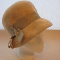 SOLD! Winter Furry Cloche by Estrella