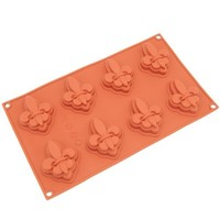 Freshware SL-122RD 8-Cavity Silicone Fleur-de-lis Cake and Soap Mold