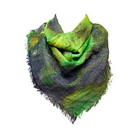 Green multi Night Sky Scarf by French Connection