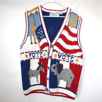 SALE Political Mess Hot 90s Vintage Vest