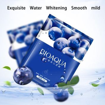 Face Mask Hyaluronic Acid Serum Snails Eggs Aloe Blueberry Oil Control