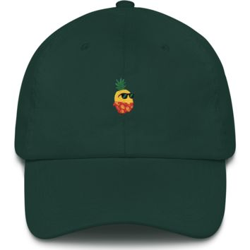 Pineapple Baseball Cap For Men | Tropical Hawaiian Dad Hat | The Jazzy Panda