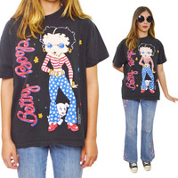 Vintage 90s Betty Boop American Outfit T Shirt Sz L