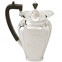 Sterling Silver Coffee Jug - Art Nouveau Style - Antique George V (1920)