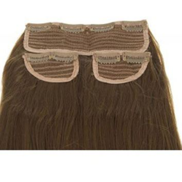 """NEW WOMENS STRAIGHT CLIP IN 3 PIECE SET WEFT 24"""" LONG HAIR EXTENSIONS KOKO UK"""