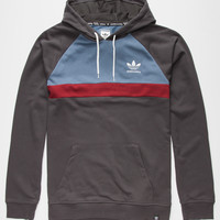 Adidas Adv Blocked Mens Hoodie Charcoal  In Sizes