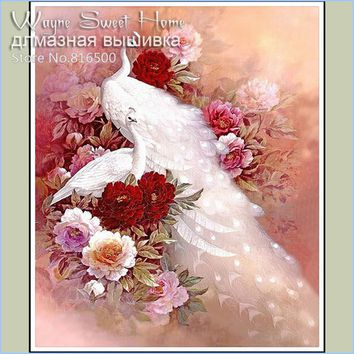 Diy Diamond Painting Cross Stitch Needlework Diamond Mosaic Diamond Embroidery Peacock Pictures Of Rhinestone Hobbies And Crafts