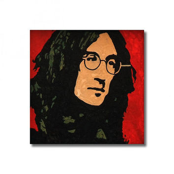 John Lennon The Beatles RETRO-  Wall Art Giclee Canvas Poster print
