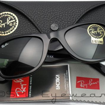 Brand new Wayfare raY-BaN sunglasses Black/Green Lens 50mm