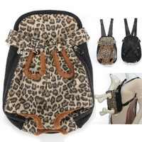 Colorful Cotton Canvas Puppy Pet Dog Carrier Front Backpack Net Bag Multi-Size Assorted Assortment Pattern Choice Small