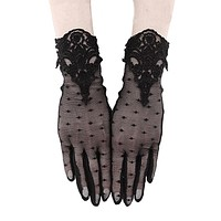 GUIPURE GLOVES - Gothic Mesh Gloves - Gothic / Evening Wear