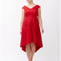 Lily lace fit & flare dress by Lela Rose | Lane Bryant