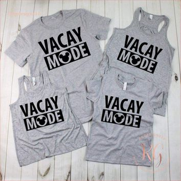 Disney Vacay Mode Woman's Tank Top TShirt Matching Family Shirt