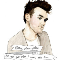 Morrissey watercolour portrait illustration PRINT The Smiths
