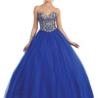Quinceanera Ball Gown Plus Size Prom Long Dress