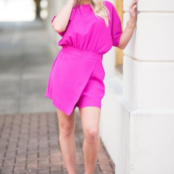 A Time For Love Skort Dress, Magenta