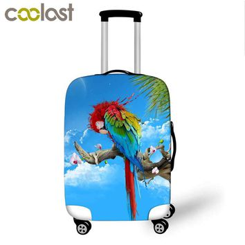 High Elastic Luggage Protective Cover Parrot Print Travel Accessories For 18-28 Inch Suitcase Carrier Luggage Cover Baggage Set