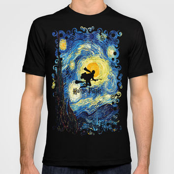 Harry potter painting unisex adult, kids and baby tee T-shirt by Three Second