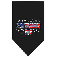 Black Pawtriotic Pup Screen Print Bandana for Dogs