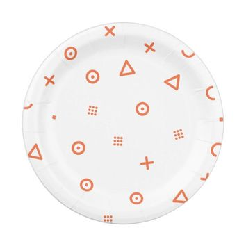 Happy Particles Paper Plate