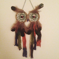 Owl Dreamcatcher || Bohemian || Hippie || Wall Hanging || Apartment