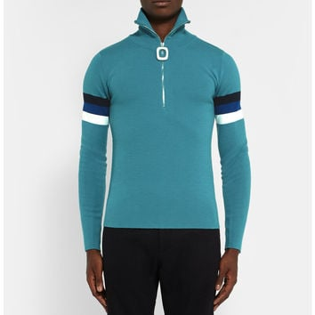 J.W.Anderson - Slim-Fit Half-Zip Merino Wool Sweater | MR PORTER
