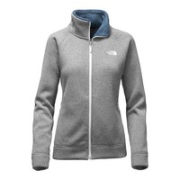 The North Face Raschel Crescent Full Zip Jacket for Women in Lunar Ice Grey Heather NF0A2TEJ-GF5