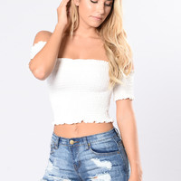 Surrounded By Your Embrace Top - Ivory