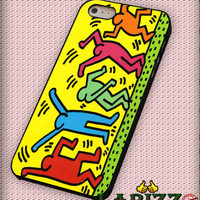 "Celebrating Keith Haring for iPhone 4/4s, iPhone 5/5S/5C/6/6+, Samsung S3/S4/S5, Samsung Note 3/4 Case ""007"""